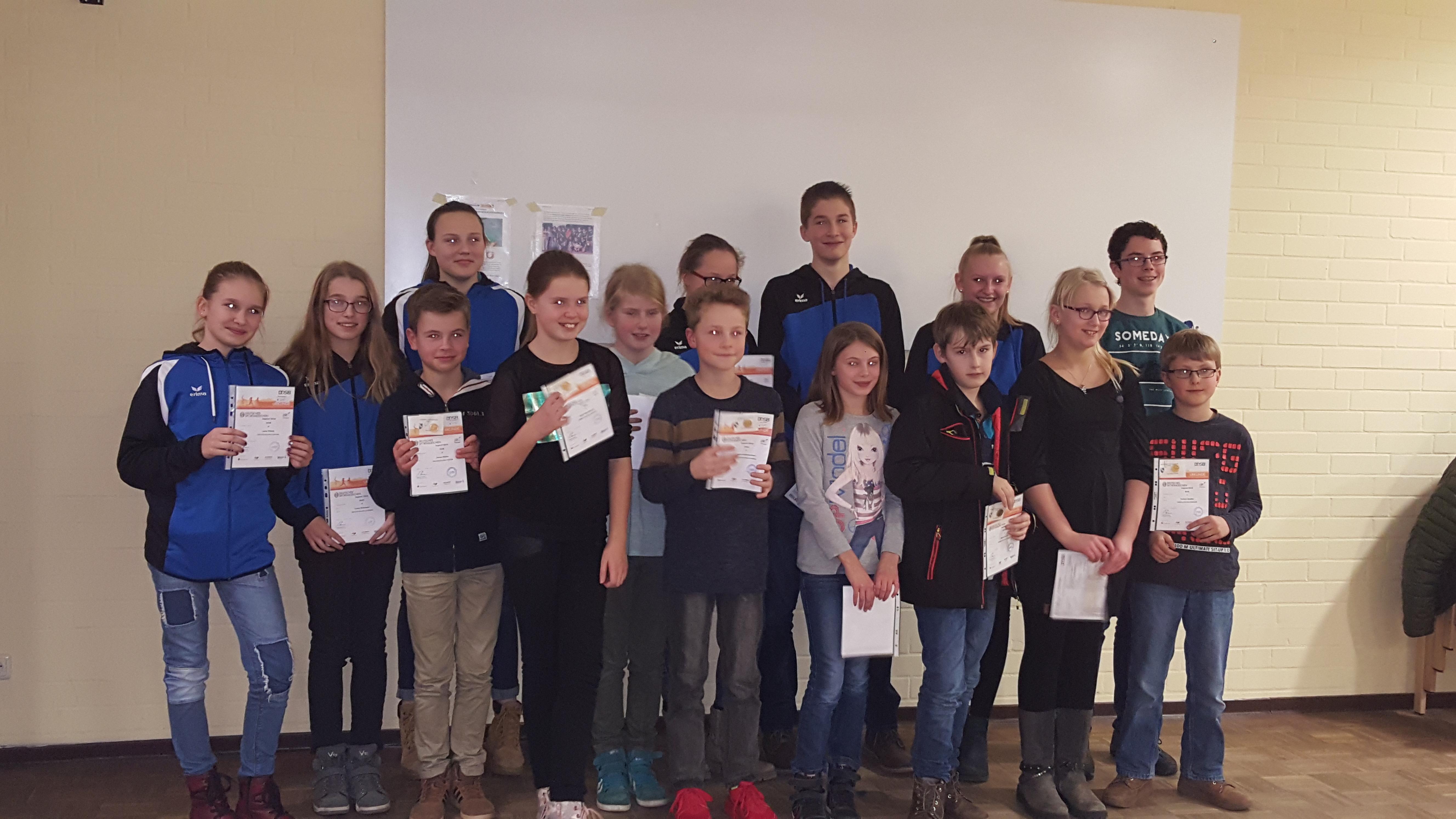Verleihung Sportabzeichen 2016